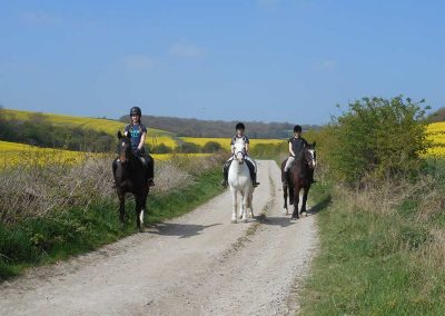 Out hacking on the South Downs