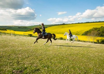 Hacking on South Downs Riding School Lewes
